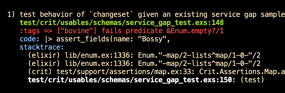 ":tags => [""bovine""] fails predicate &Enum.empty?/1"