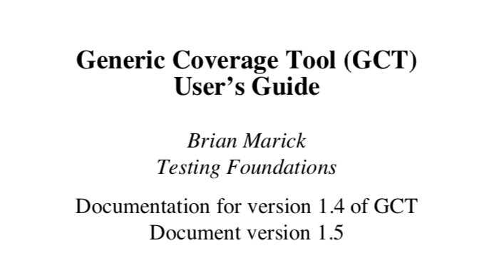 Generic Coverage Tool User's Guide, by me.